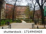 Granary Burying Ground in Tremont Street in downtown Boston, Massachusetts, the United States. America. Freedom trail