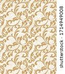 damask pattern vector element.... | Shutterstock .eps vector #1714949008