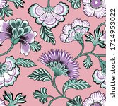 floral seamlessl pattern.... | Shutterstock .eps vector #1714953022