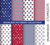 set of american patriotic stars ... | Shutterstock .eps vector #1714962175