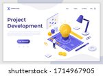 landing page template with man...   Shutterstock .eps vector #1714967905