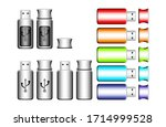 usb flash drive vector icon.... | Shutterstock .eps vector #1714999528