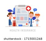 doctor  nurse and patient... | Shutterstock .eps vector #1715001268
