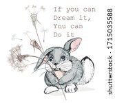 cute vector hand drawn rabbit... | Shutterstock .eps vector #1715035588