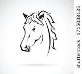 Vector Of A Horse Head Design...