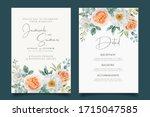 beautfiul wedding invitation... | Shutterstock .eps vector #1715047585
