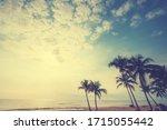 seascape photo of vintage...   Shutterstock . vector #1715055442