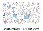 set illustration of cute...   Shutterstock .eps vector #1715057095