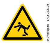 warning tripping hazard symbol...   Shutterstock .eps vector #1715062105