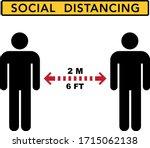 social distancing banner. keep... | Shutterstock .eps vector #1715062138