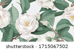 floral seamless pattern  white... | Shutterstock .eps vector #1715067502