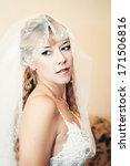 beautiful bride blond in white... | Shutterstock . vector #171506816