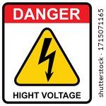 high voltage icon  danger... | Shutterstock .eps vector #1715071165