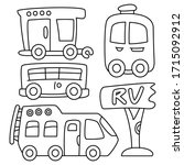 recreational vehicle and... | Shutterstock .eps vector #1715092912