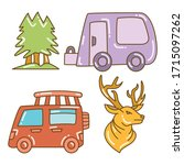 recreational vehicle and camper ... | Shutterstock .eps vector #1715097262