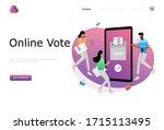 online vote vector illustration ...