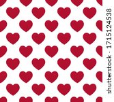 Seamless Pattern Of Red Hearts. ...