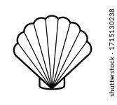 clam shellfish icon outline...   Shutterstock .eps vector #1715130238