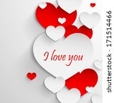 i love you. abstract holiday... | Shutterstock .eps vector #171514466