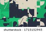 new grunge aesthetics in... | Shutterstock .eps vector #1715152945