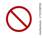 prohibition sign. red no symbol ...   Shutterstock .eps vector #1715158918
