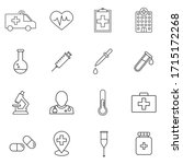 medicine and medical equipment...   Shutterstock .eps vector #1715172268
