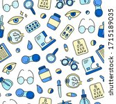 seamless pattern with doodle... | Shutterstock .eps vector #1715189035