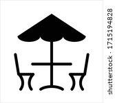 table chair under umbrella icon ...   Shutterstock .eps vector #1715194828