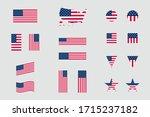 usa american flag icon... | Shutterstock .eps vector #1715237182
