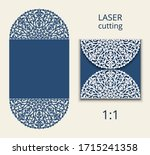 cutout folding envelope for...   Shutterstock .eps vector #1715241358