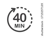 forty minutes icon. symbol for... | Shutterstock .eps vector #1715257135