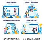 financial advisor or financier...   Shutterstock .eps vector #1715266585