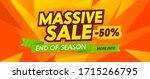 massive sale advertising banner ... | Shutterstock .eps vector #1715266795