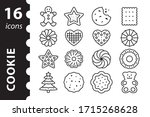 Cookies Icon Set. Gingerbread...