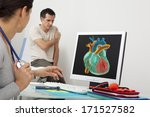 cardiology consultation man   Shutterstock . vector #171527582