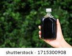 women hand holding cold brew... | Shutterstock . vector #1715300908