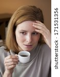 woman with headache | Shutterstock . vector #171531356
