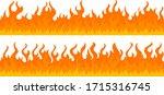 cartoon fire flame frame... | Shutterstock .eps vector #1715316745