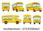 yellow school bus viewed from... | Shutterstock .eps vector #1715330662