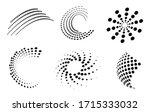halftone design elements... | Shutterstock .eps vector #1715333032