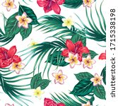 tropical blooming exotic... | Shutterstock .eps vector #1715338198