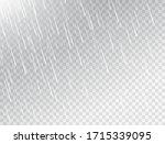 rain on white transparent...   Shutterstock .eps vector #1715339095