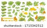 money pile coin stack flat... | Shutterstock .eps vector #1715342512