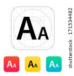 font size icon. vector...
