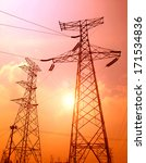 high tension line | Shutterstock . vector #171534836