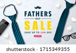 happy father's day sale web... | Shutterstock .eps vector #1715349355