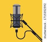 studio microphone vector.... | Shutterstock .eps vector #1715352592
