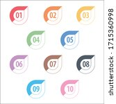 colorful info graphic numbers... | Shutterstock .eps vector #1715360998