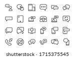 simple set of message line... | Shutterstock .eps vector #1715375545