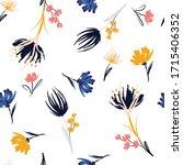 trendy delicate hand paint... | Shutterstock .eps vector #1715406352